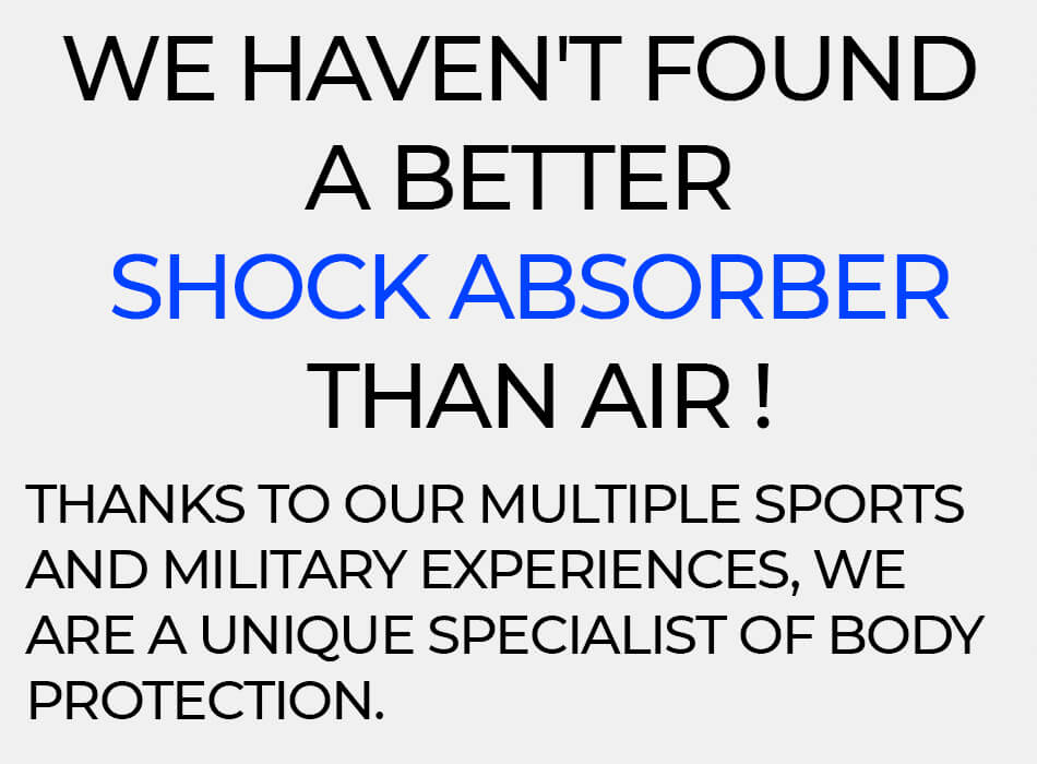 We haven't found a better shock absorber than air for a motocross chest protector