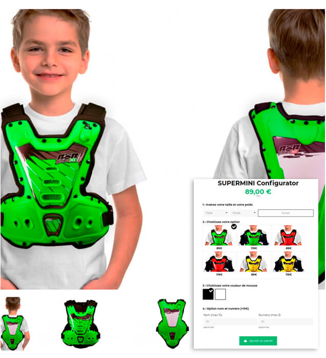 Link to RXR Protect Supermini motocross chest protector