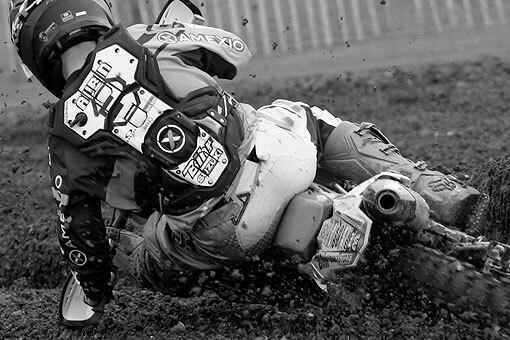 Nicolas Aubin wearing RXR Protect Bullet motocross chest protector