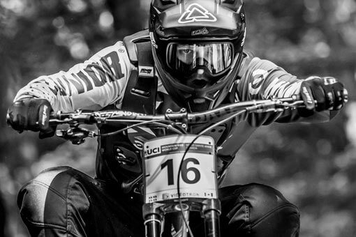 Rudy Cabirou wearing RXR Protect Bullet downhill chest protector