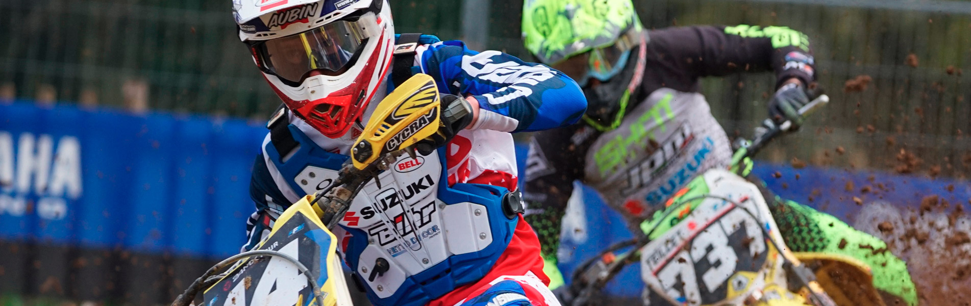 Nicolas Aubin wears the chest protector